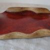Skladem - 450 Kč, podtác s uchy a červenou glazurou z jemné šamotové hlíny