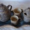 Na objednání - 1380 Kč, čajová souprava, konvice, cukřenka, hrníčky se jmény na přání a podnos, dodací doba 3 týdny