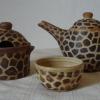 """Na objednání - 580 Kč, čajová souprava \""""žirafa\"""", konvička, cukřenka, šálek, dodací doba 3 týdny"""