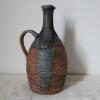 Skladem - 300 Kč, kameninová váza z šamotové hlíny, glazovaná do zelena