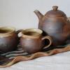 individuální objednávka, čajová souprava s podnosem a hrnky se jmény